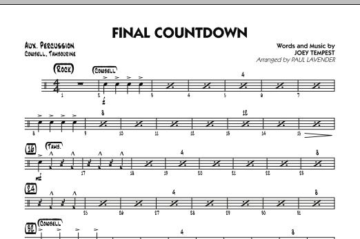 Final Countdown - Aux Percussion (Jazz Ensemble)