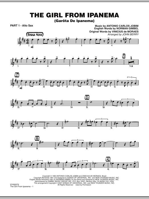 The Girl From Ipanema (Garota De Ipanema) - Part 1 - Eb Alto Sax (Jazz Ensemble)