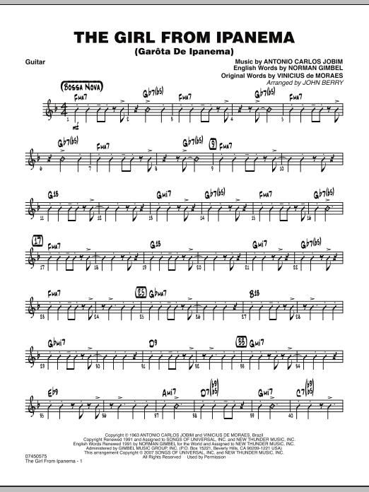 The Girl From Ipanema (Garota De Ipanema) - Guitar (Jazz Ensemble)