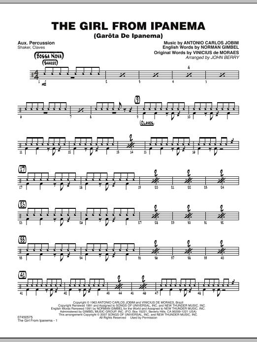 The Girl From Ipanema (Garota De Ipanema) - Aux Percussion (Jazz Ensemble)