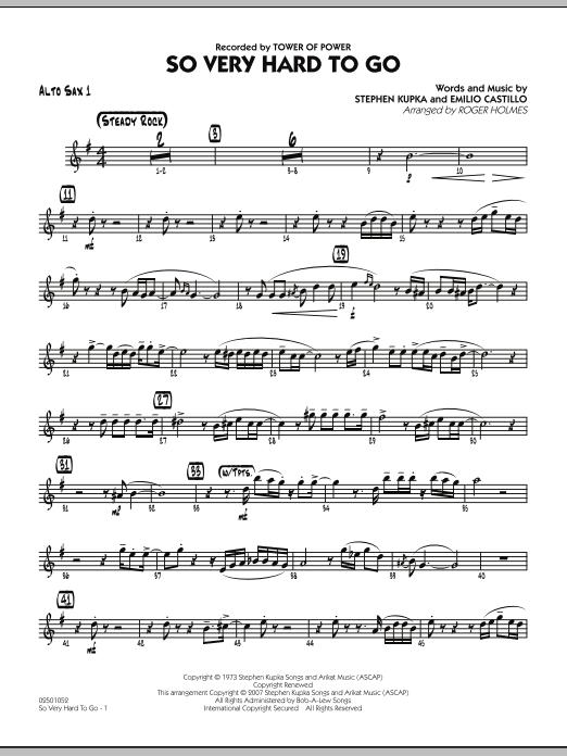 So Very Hard To Go - Alto Sax 1 (Jazz Ensemble)