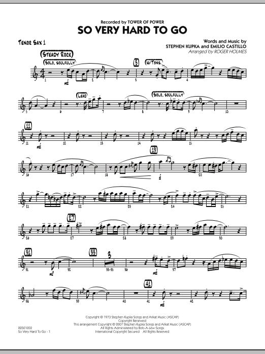 So Very Hard To Go - Tenor Sax 1 (Jazz Ensemble)