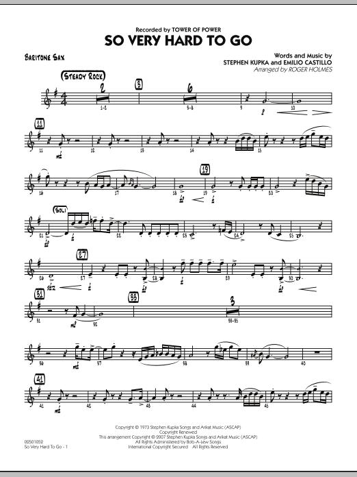 So Very Hard To Go - Baritone Sax (Jazz Ensemble)