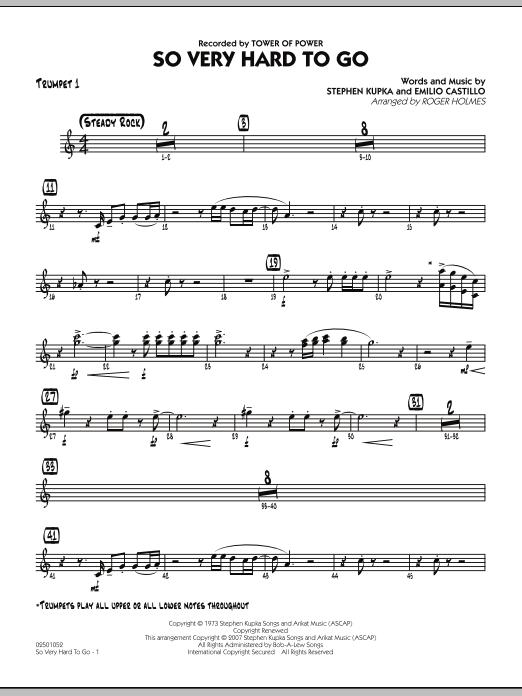 So Very Hard To Go - Trumpet 1 (Jazz Ensemble)