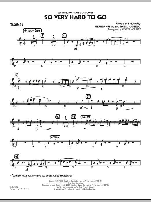So Very Hard To Go - Trumpet 2 (Jazz Ensemble)