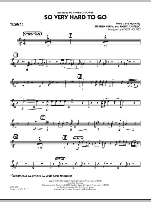 So Very Hard To Go - Trumpet 3 (Jazz Ensemble)
