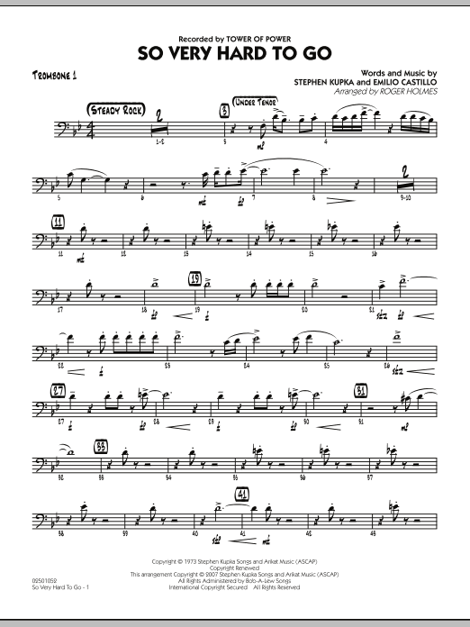 So Very Hard To Go - Trombone 1 (Jazz Ensemble)