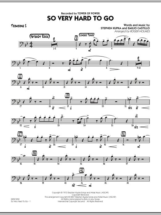 So Very Hard To Go - Trombone 2 (Jazz Ensemble)