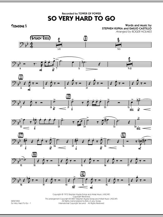 So Very Hard To Go - Trombone 3 (Jazz Ensemble)