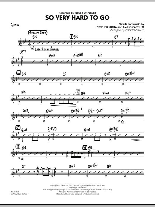 So Very Hard To Go - Guitar (Jazz Ensemble)