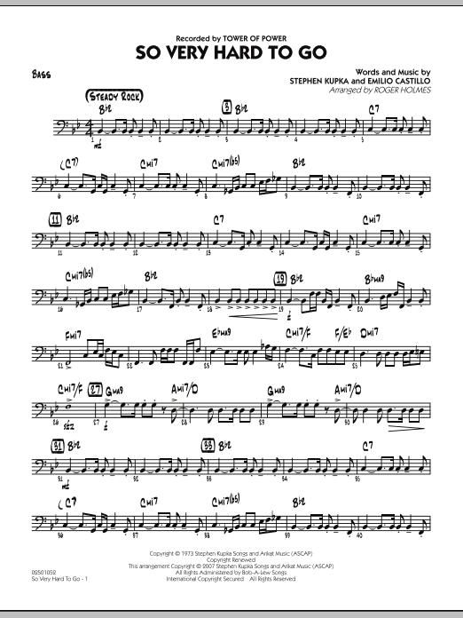 So Very Hard To Go - Bass (Jazz Ensemble)