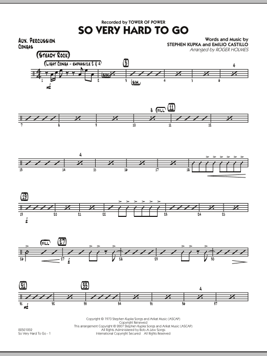 So Very Hard To Go - Aux Percussion (Jazz Ensemble)