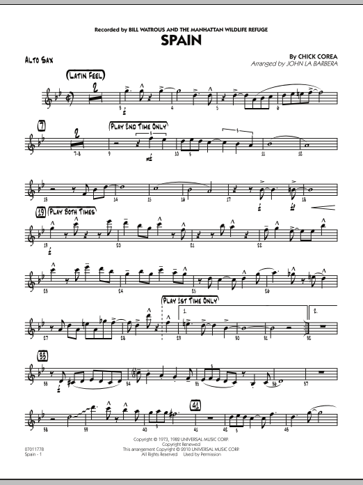 Spain - Alto Sax (Jazz Ensemble)