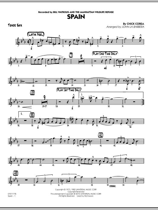 Spain - Tenor Sax (Jazz Ensemble)