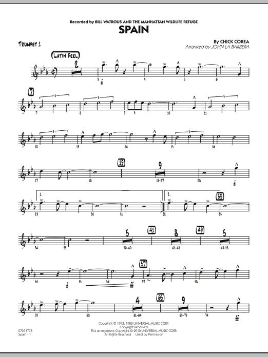 Spain - Trumpet 1 (Jazz Ensemble)