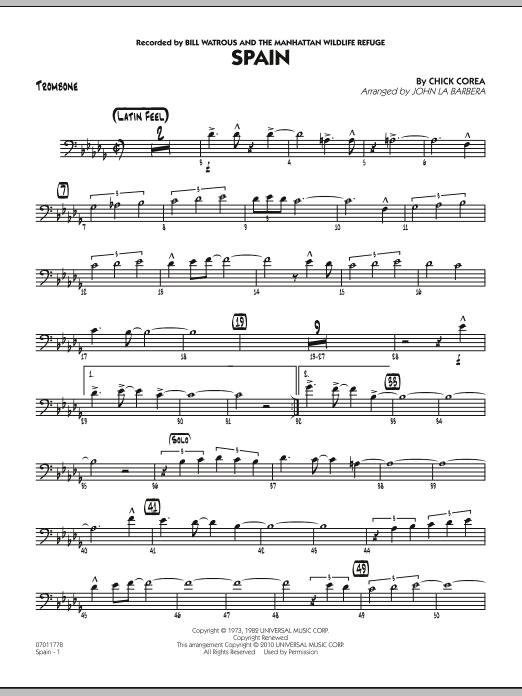 Spain - Trombone (Jazz Ensemble)