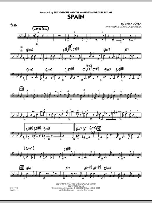 Spain - Bass (Jazz Ensemble)