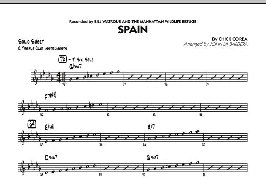 Spain - C Solo Sheet (Jazz Ensemble)