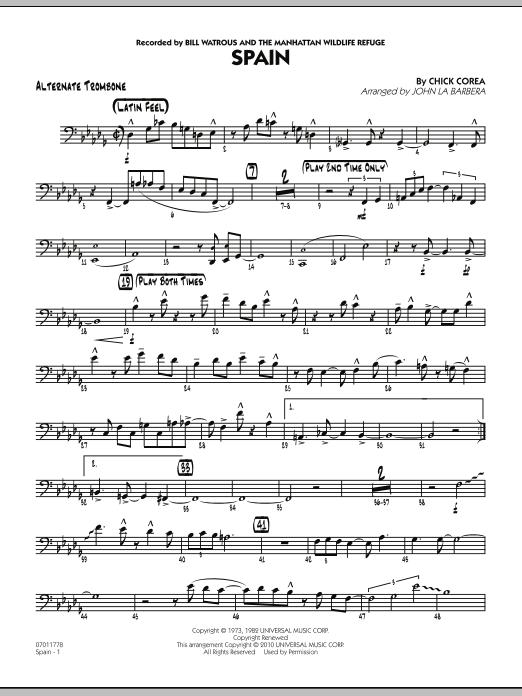 Spain - Alternate Trombone (Jazz Ensemble)