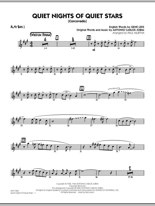 Quiet Nights Of Quiet Stars (Corcovado) - Alto Sax 1 (Jazz Ensemble)