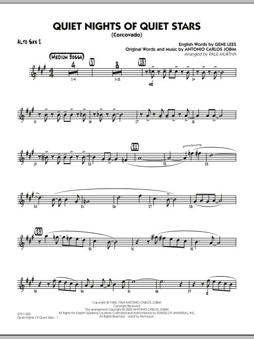 Quiet Nights Of Quiet Stars (Corcovado) - Alto Sax 2 (Jazz Ensemble)
