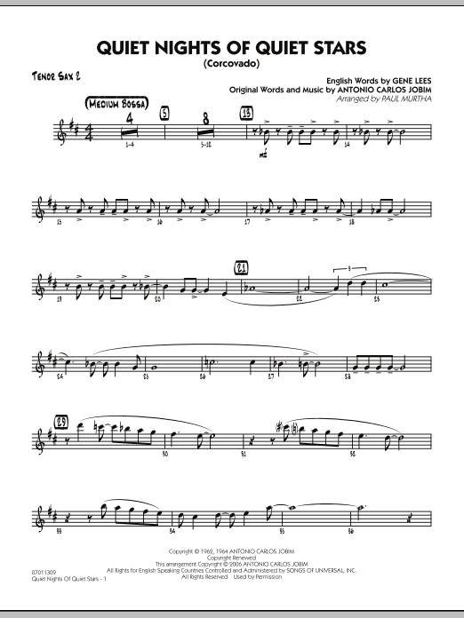 Quiet Nights Of Quiet Stars (Corcovado) - Tenor Sax 2 (Jazz Ensemble)