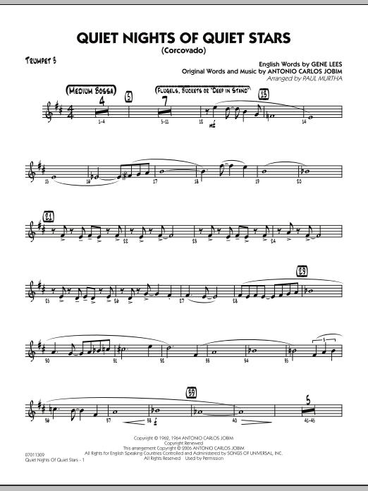 Quiet Nights Of Quiet Stars (Corcovado) - Trumpet 3 (Jazz Ensemble)