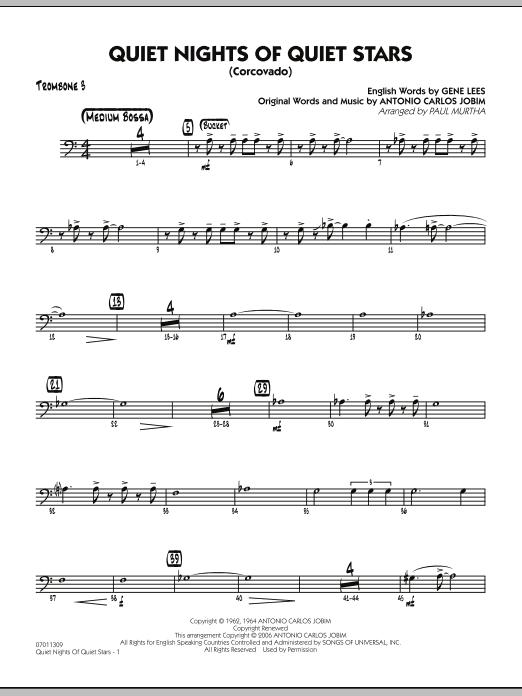 Quiet Nights Of Quiet Stars (Corcovado) - Trombone 3 (Jazz Ensemble)