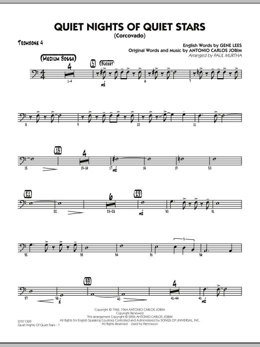 Quiet Nights Of Quiet Stars (Corcovado) - Trombone 4 (Jazz Ensemble)