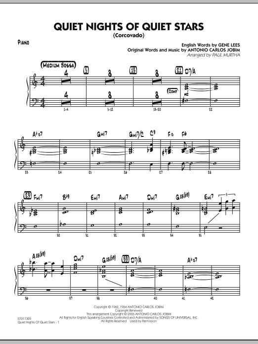 Quiet Nights Of Quiet Stars (Corcovado) - Piano (Jazz Ensemble)