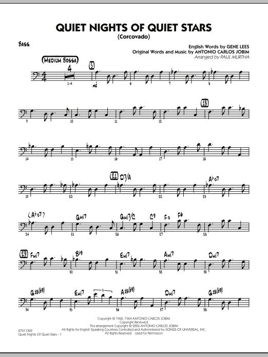 Quiet Nights Of Quiet Stars (Corcovado) - Bass (Jazz Ensemble)