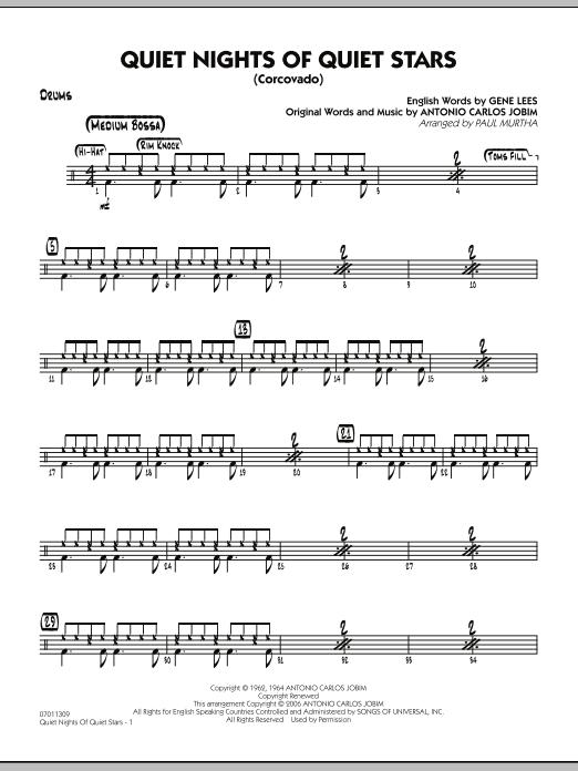 Quiet Nights Of Quiet Stars (Corcovado) - Drums (Jazz Ensemble)