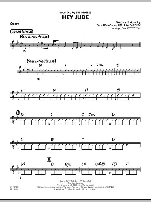 Hey Jude - Guitar (Jazz Ensemble)