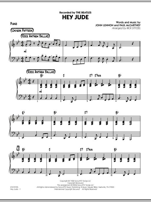 Hey Jude - Piano (Jazz Ensemble)