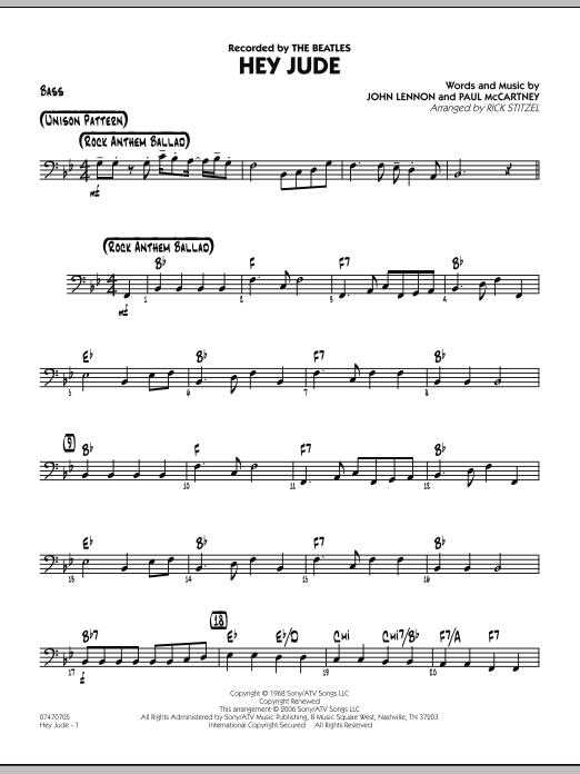 Hey Jude - Bass (Jazz Ensemble)