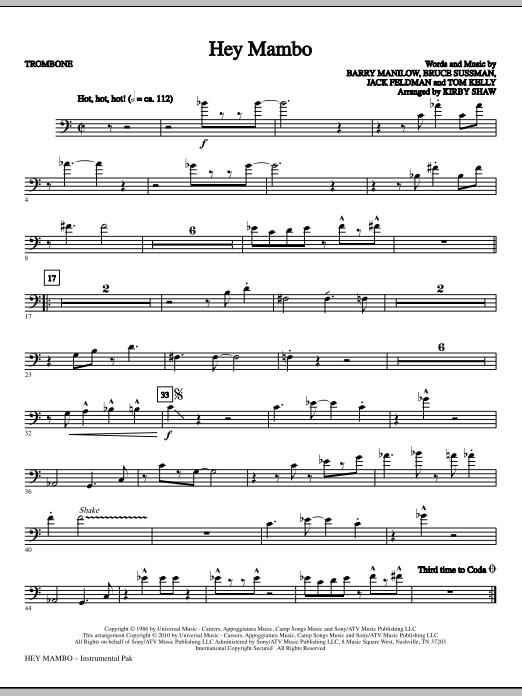Hey Mambo - Trombone (Choir Instrumental Pak)