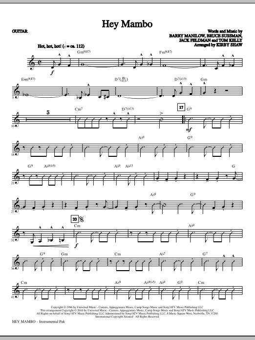 Hey Mambo - Guitar (Choir Instrumental Pak)