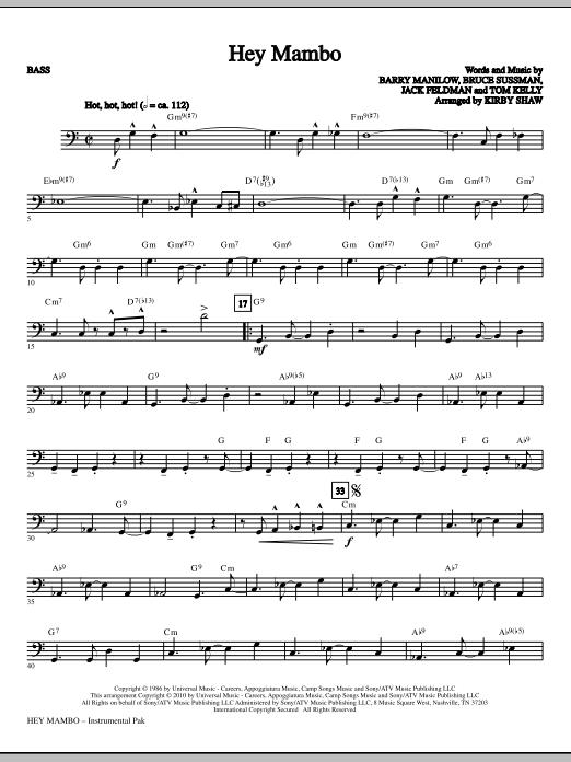 Hey Mambo - Bass (Choir Instrumental Pak)