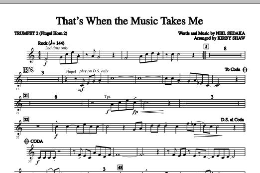 That's When The Music Takes Me - Bb Trumpet 2 (Choir Instrumental Pak)