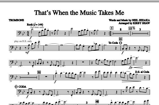 That's When The Music Takes Me - Trombone (Choir Instrumental Pak)