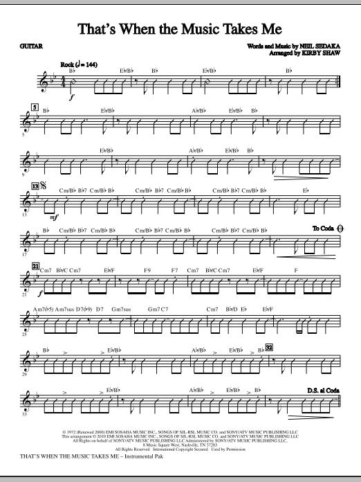 That's When The Music Takes Me - Guitar (Choir Instrumental Pak)