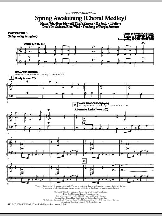 Spring Awakening (Choral Medley) - Synthesizer II (Choir Instrumental Pak)
