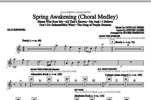 Spring Awakening (Choral Medley) - Glockenspiel (Choir Instrumental Pak)