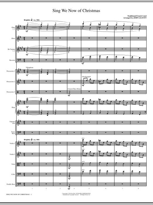 Sing We Now Of Christmas - Full Score (Choir Instrumental Pak)