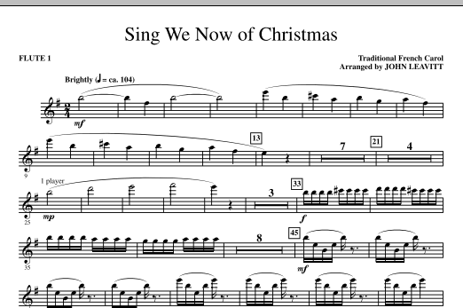 Sing We Now Of Christmas - Flute 1 (Choir Instrumental Pak)