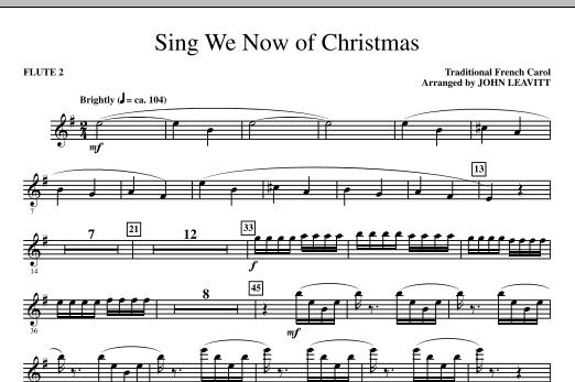 Sing We Now Of Christmas - Flute 2 (Choir Instrumental Pak)