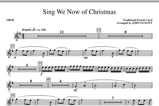 Sing We Now Of Christmas - Oboe (Choir Instrumental Pak)