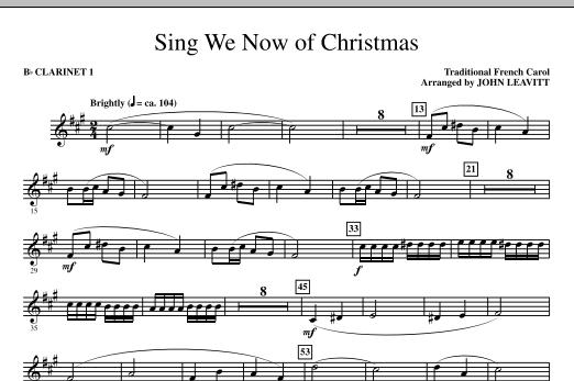 Sing We Now Of Christmas - Bb Clarinet 1 (Choir Instrumental Pak)