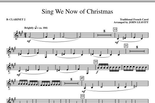 Sing We Now Of Christmas - Bb Clarinet 2 (Choir Instrumental Pak)