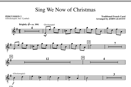 Sing We Now Of Christmas - Percussion 2 (Choir Instrumental Pak)